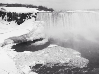 The American Falls as seen from the Canadian side. Visited Niagara Falls with the family on Family Day.