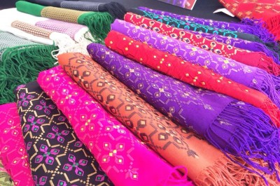 Fabrics from Myanmar.