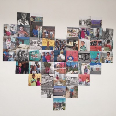 A collage of the women's work over the last year. The Heart of a Woman Project.