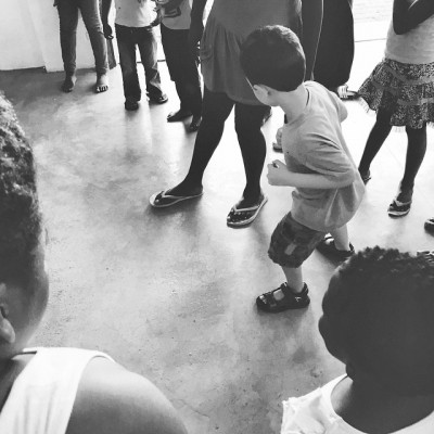 My 4 yo learning isiXhosa games from the kids in the eKhaya eKasi community. We spent 6 days there. They played with the kids while I taught.