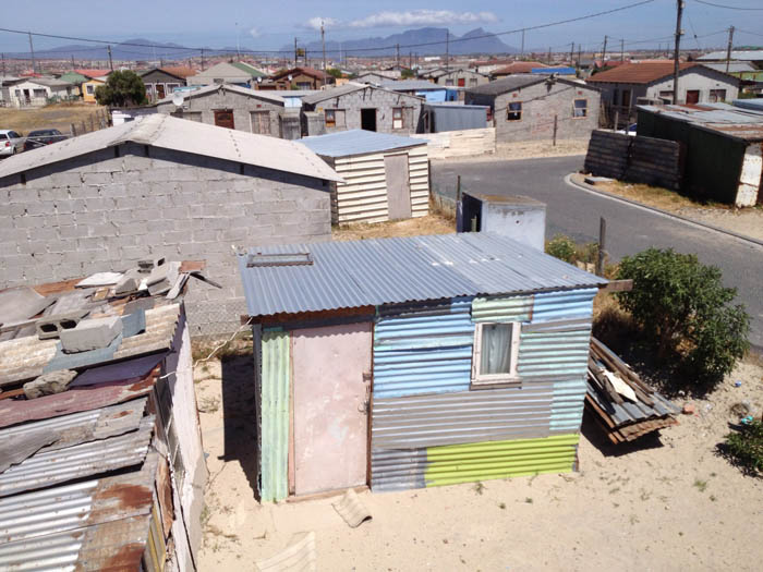View from the rooftop of eKhaya eKasi in Khayelitsha, South Africa - Dec. 10, 2012
