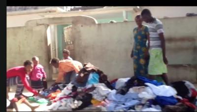 Rummaging for Clothes in Dakar