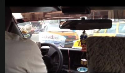 Inside a Dakar Taxi