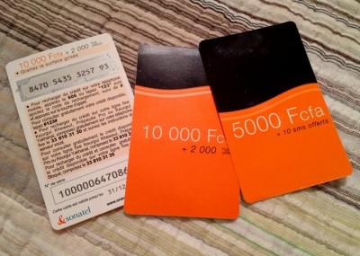 Orange prepaid cards