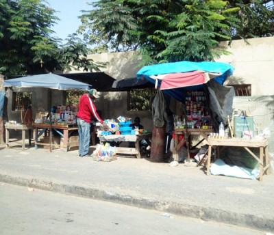 Dakar Street Life on route to the Derkle Cultural Centre