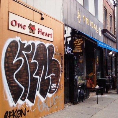 One Heart at the Tribal Eye in Kensington Market, Toronto