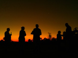 sundowners in silhouette in the Greater Kruger Park