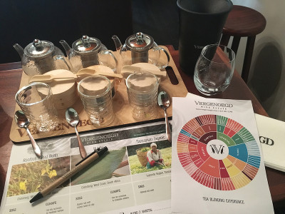 Tea blending experience at Vergenoegd