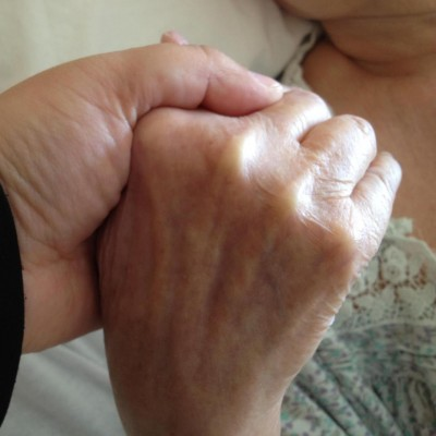 Our hands a few days before she passed away.