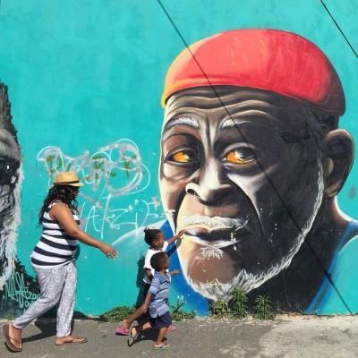 Street art in the Woodstock neighbourhood in Cape Town, South Africa.