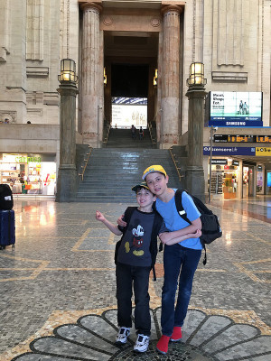 Sons at Milano Centrale