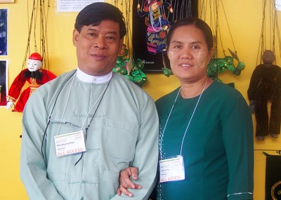 Htwe Khin Maung and Oo Tin Tin of Htwe Oo Myanmar