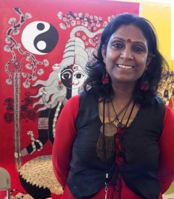 Mudhubani artist Manisha Mishra