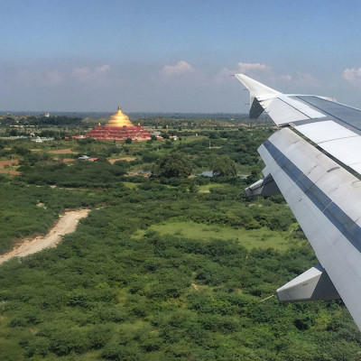 arriving in Mandalay, Myanmar