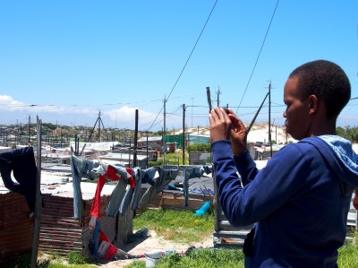photographing in Khayelitsha, South Africa